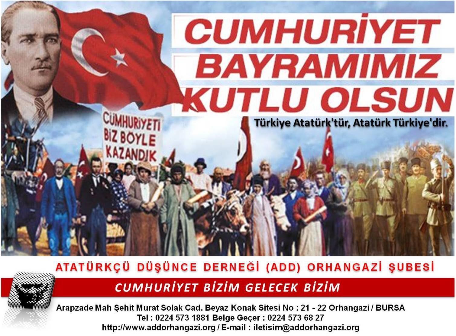 """ADD Orhangazi : """"Cumhuriyet Tesadüfen Ya da Oldu bitti ile Kurulmadı."""""""