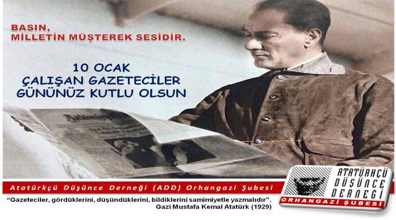 ADD'den 10 Ocak Çalışan Gazeteciler Günü Mesajı