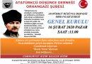 Saidoğlu'ndan Atatürkçü Düşünce Derneği Orhangazi Şubesinin 15. Olağan Genel Kuruluna Davet.